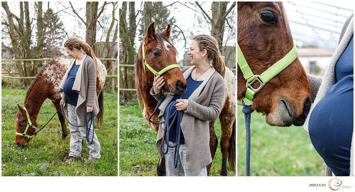 Natürliches Fotoshooting in der Schwangerschaft   - Portraitfotograf Köln & NRW