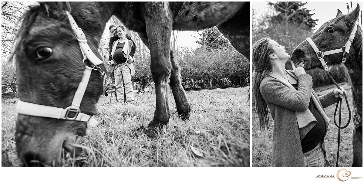 Natürliches Fotoshooting auf dem Pony