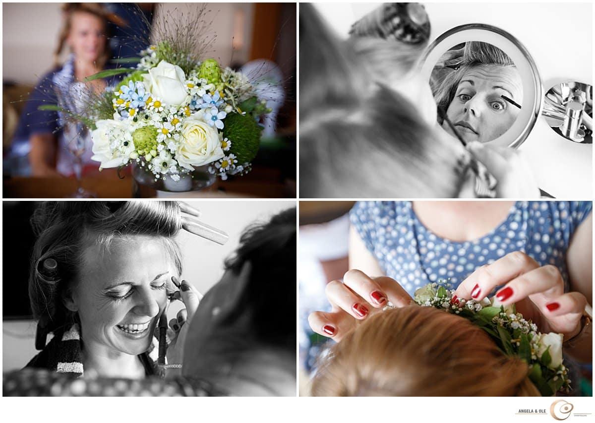 Heiraten auf Schloss Waldeck -Brautstyling  - Hochzeitsfotograf Köln