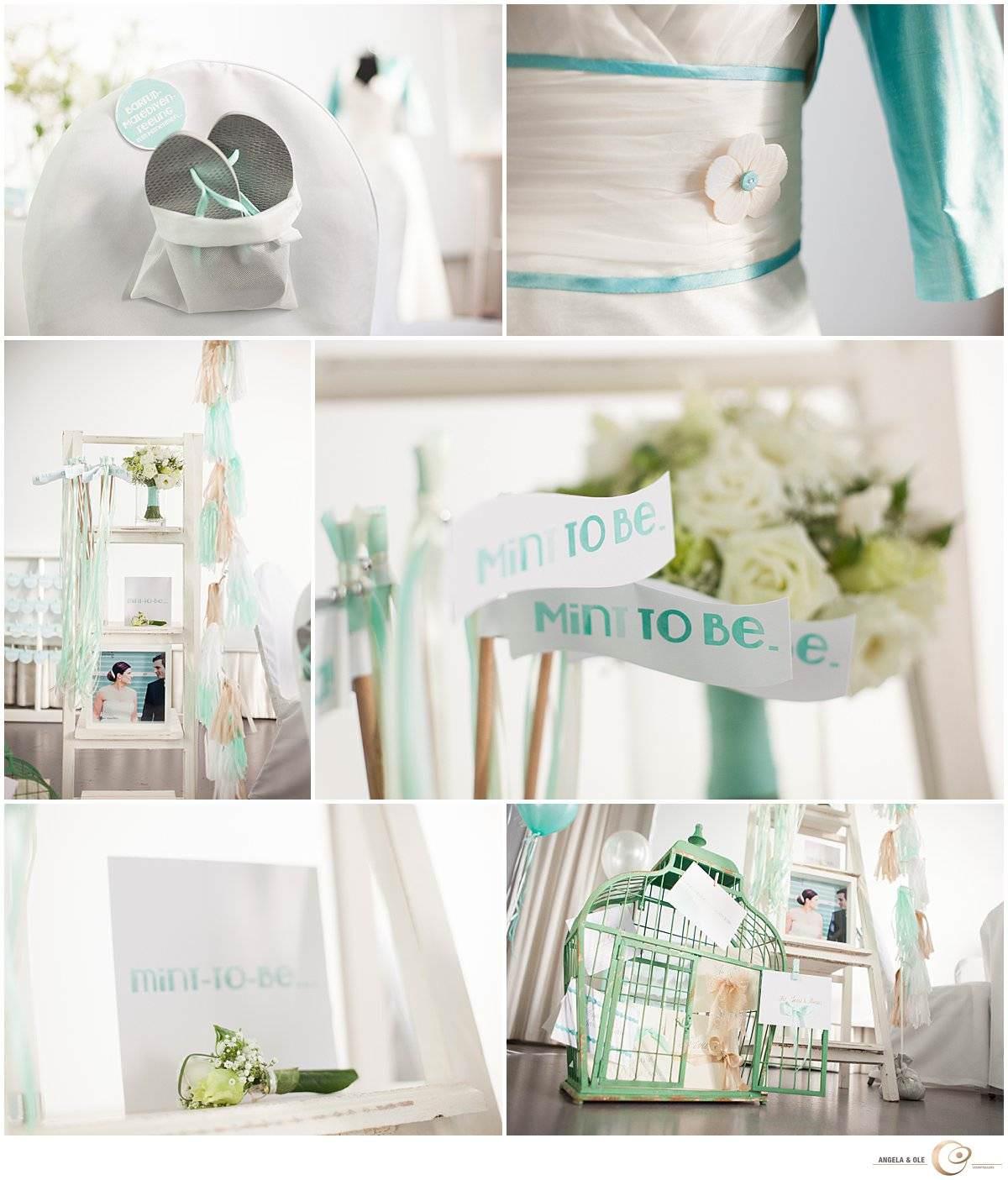 Hochzeitsdetails - Hochzeitsdekoration in Mint