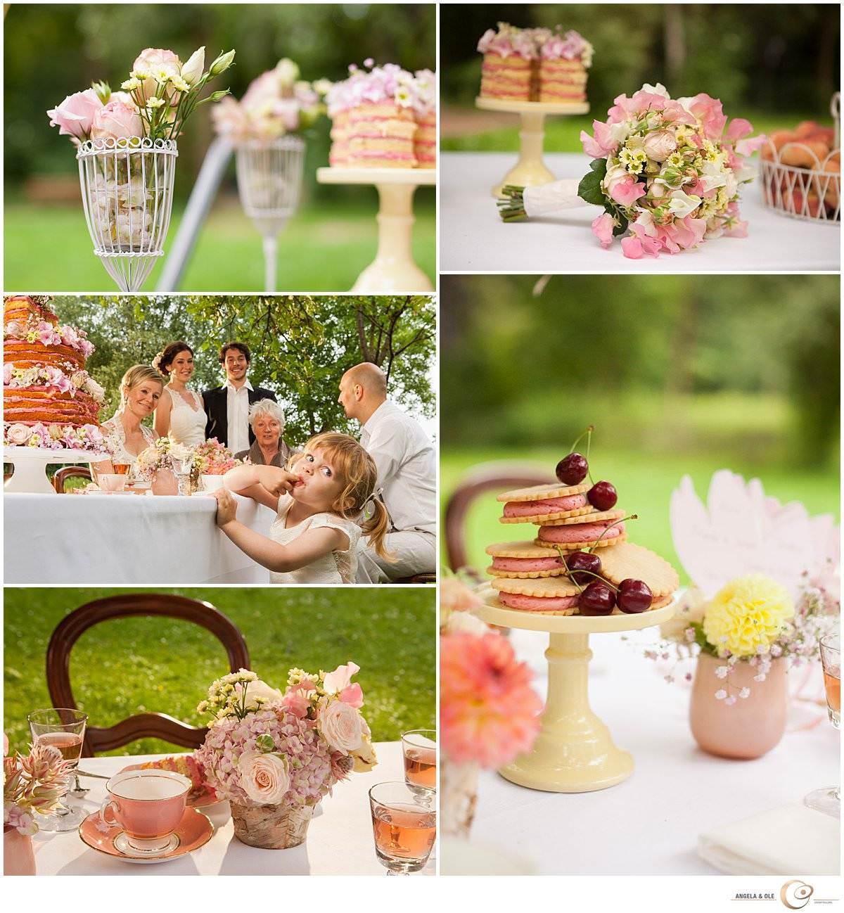 Inspirationsshoot Hochzeit Kaffeetafel