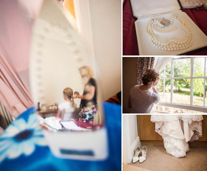 Hochzeitsfotograf in Cambridge - Ankleidung