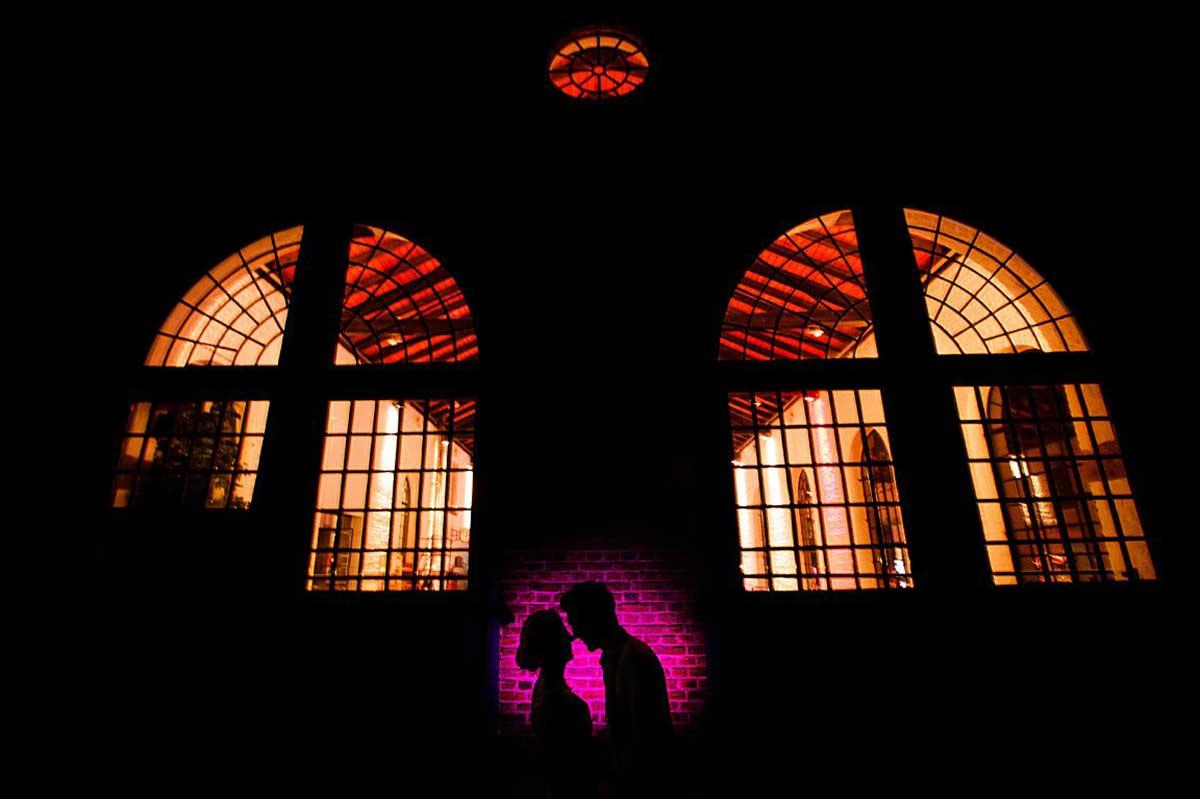 Hochzeitsfotograf Duesseldorf - Brautpaar siluette